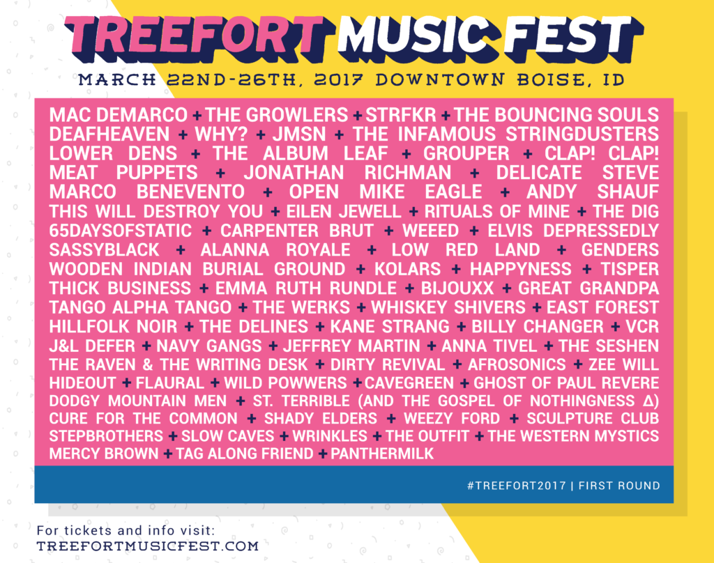 Treefort Music Festival 2017 First Lineup